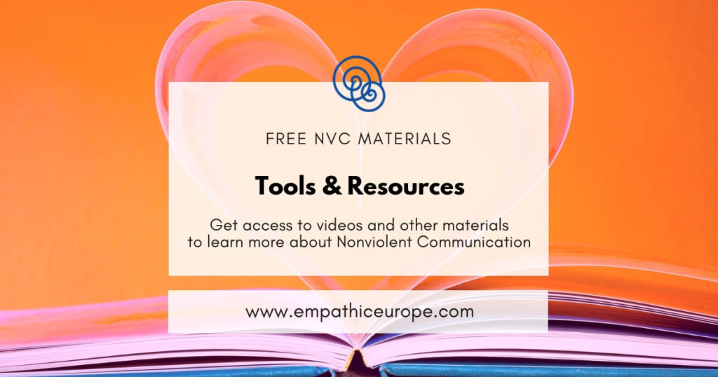 Tools and resources NVC Empathic Way Europe