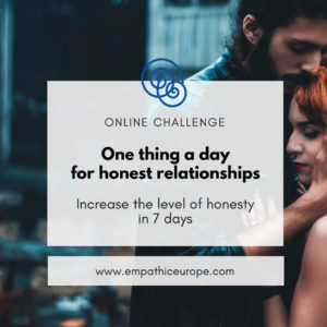 One thing a day for honest relationships Challenge Empathic Way Europe Online Nonviolent Communication NVC