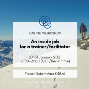An inside job for a trainer/facilitator