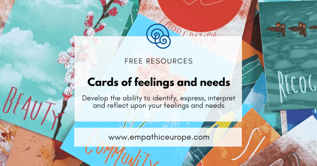 Cards of feelings and needs Empathic Way Europe Online Nonviolent Communication
