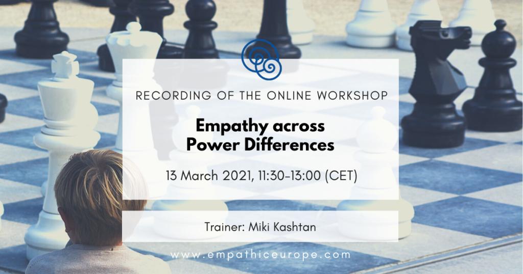 Empathy across Power Differences - Miki Kashtan