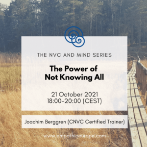 The power of not knowing all Empathic Way Europe Joachim Berggren